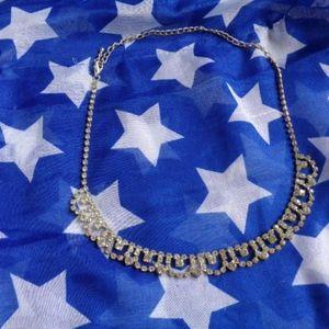 Rhinestone necklace jewelry bling